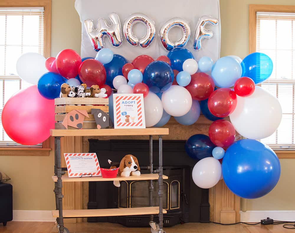 Puppy Party Balloon Garland