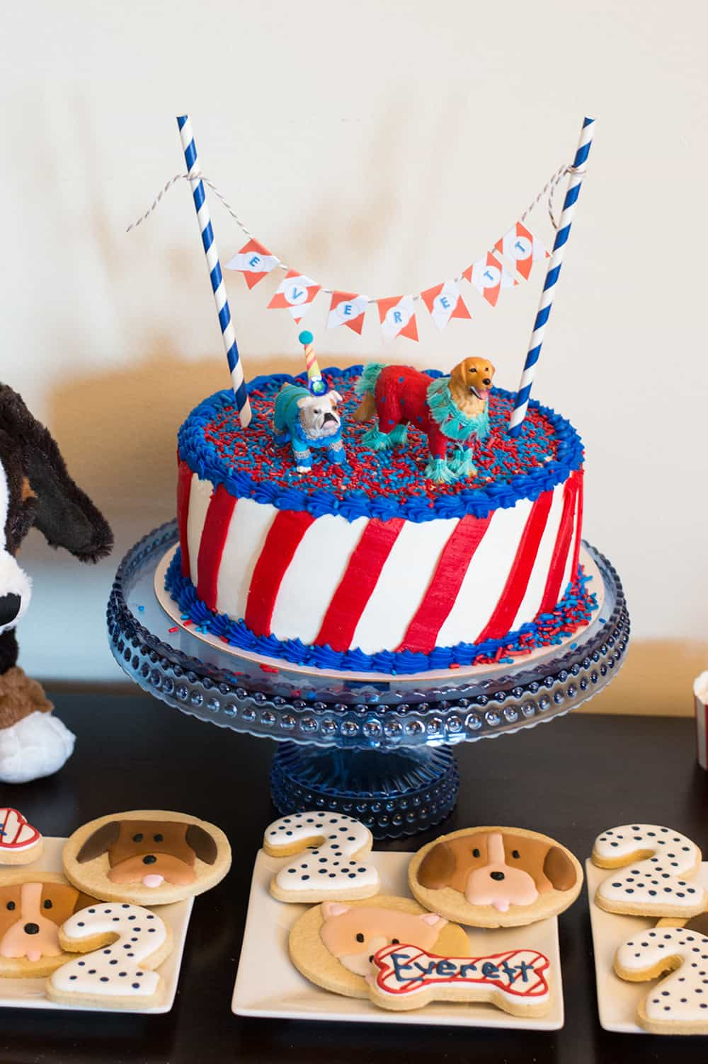 Puppy Party Cake from Elva M Design Studio