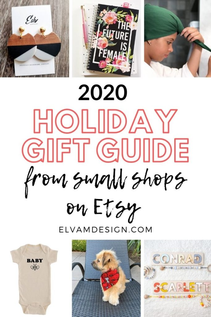 2020 holiday gift guide on Etsy