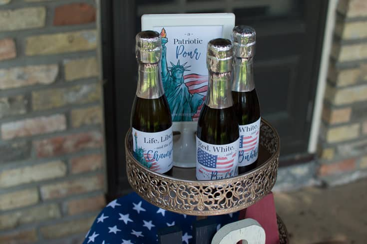 Cheers! Patriotic 4th of July Happy Hour