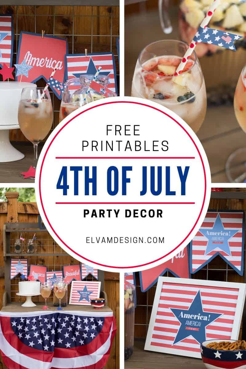 Free Printable 4th of July Decor at elvamdesign.com