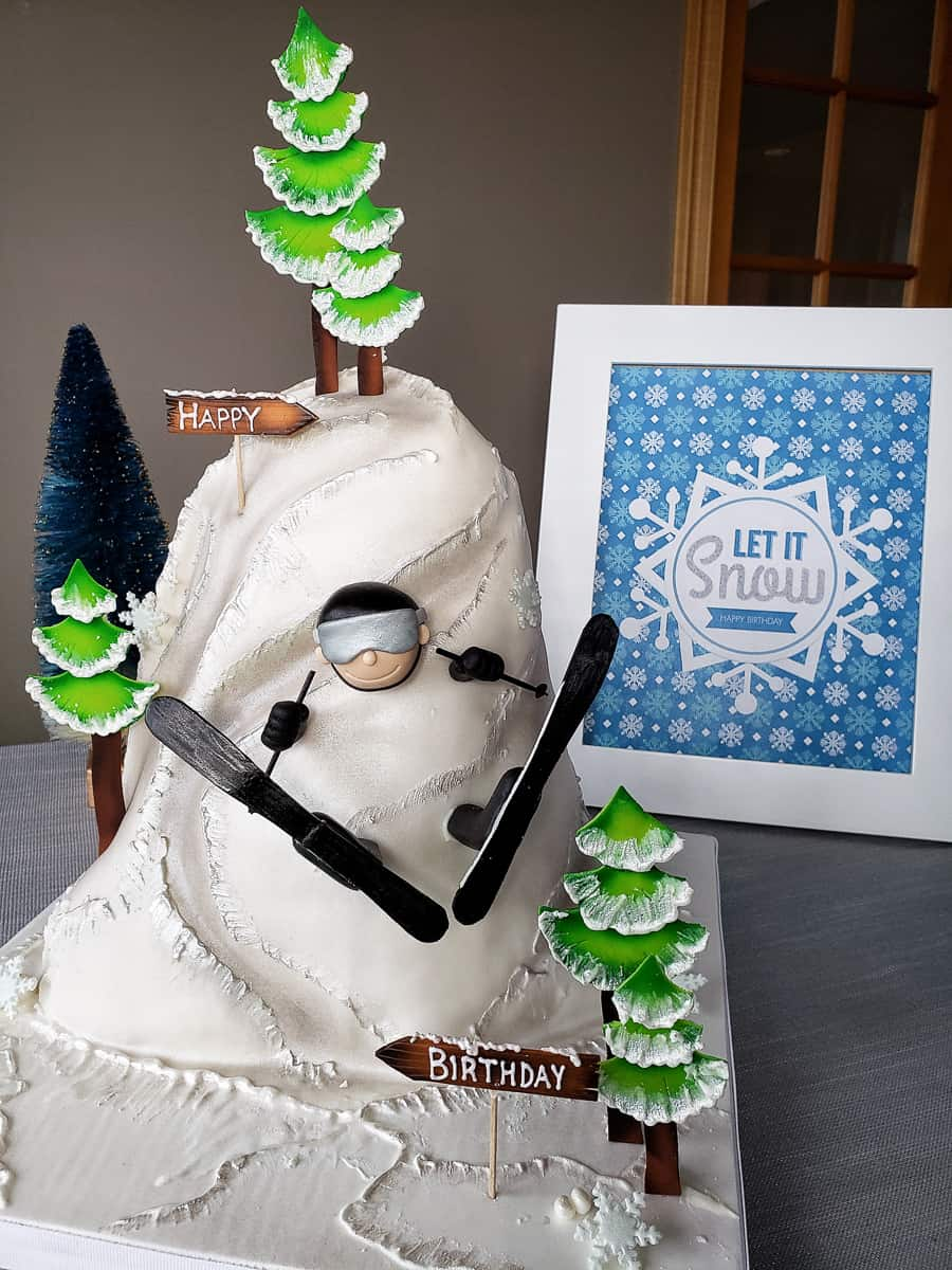 Ski cake from Miss Sarah's Cakery