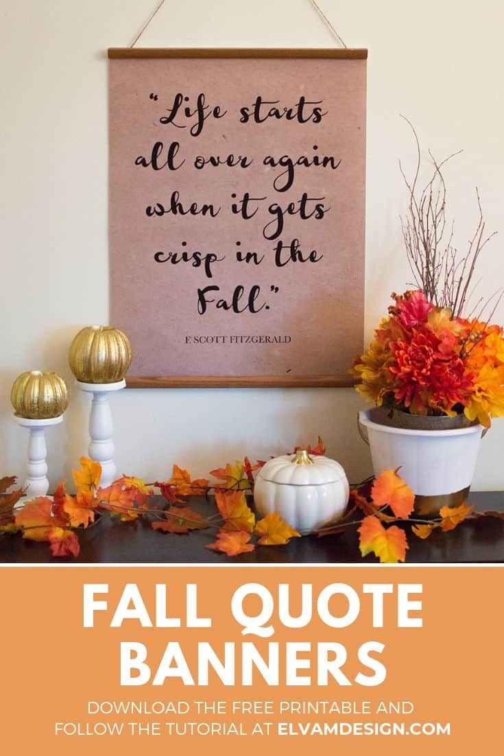 Create Fall Quote Banners for your home