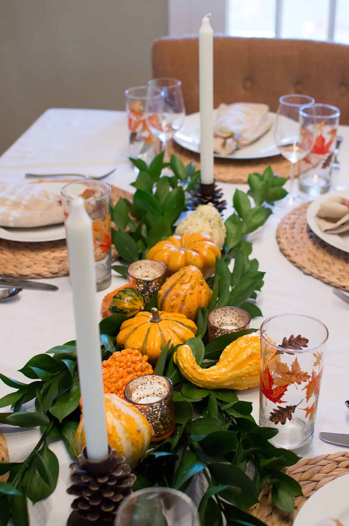Centerline view of the Thanksgiving centerpiece