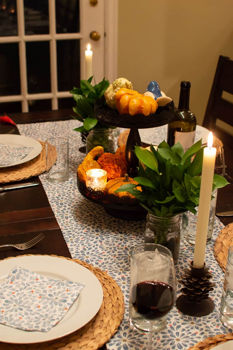 Simple Fall Tablescape from Elva M Design Studio