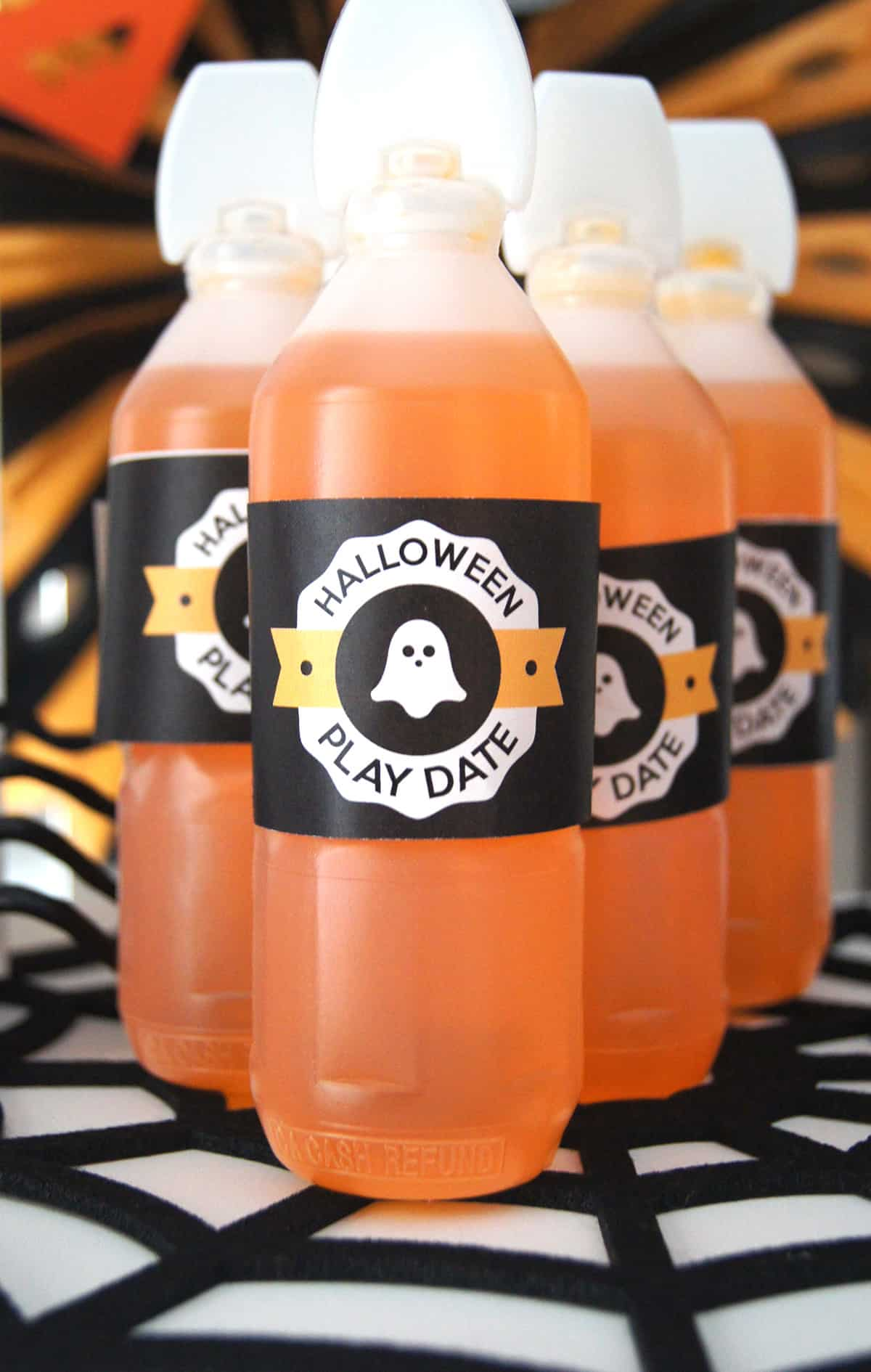 Kids Halloween Play Date Bottle Wraps