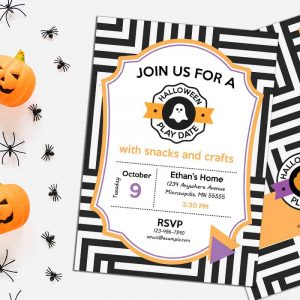 Halloween Play Date Invitation from Elva M Design Studio