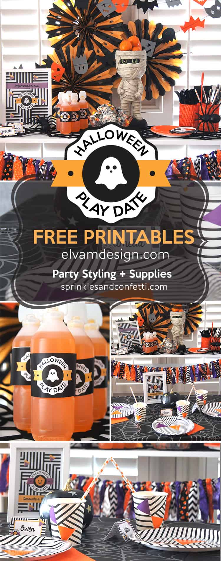 Kids Halloween Play Date with free printables