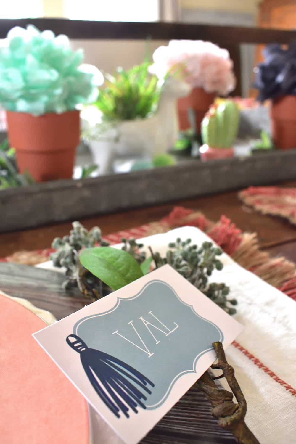 Free Southwest Style Place Cards from Elva M Design Studio