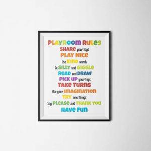 playroom rules printable