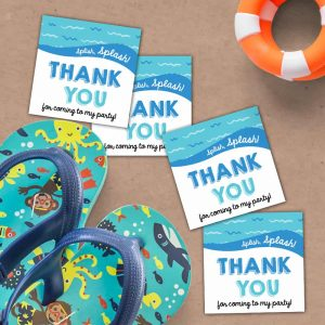 Pool Party Favor Tags