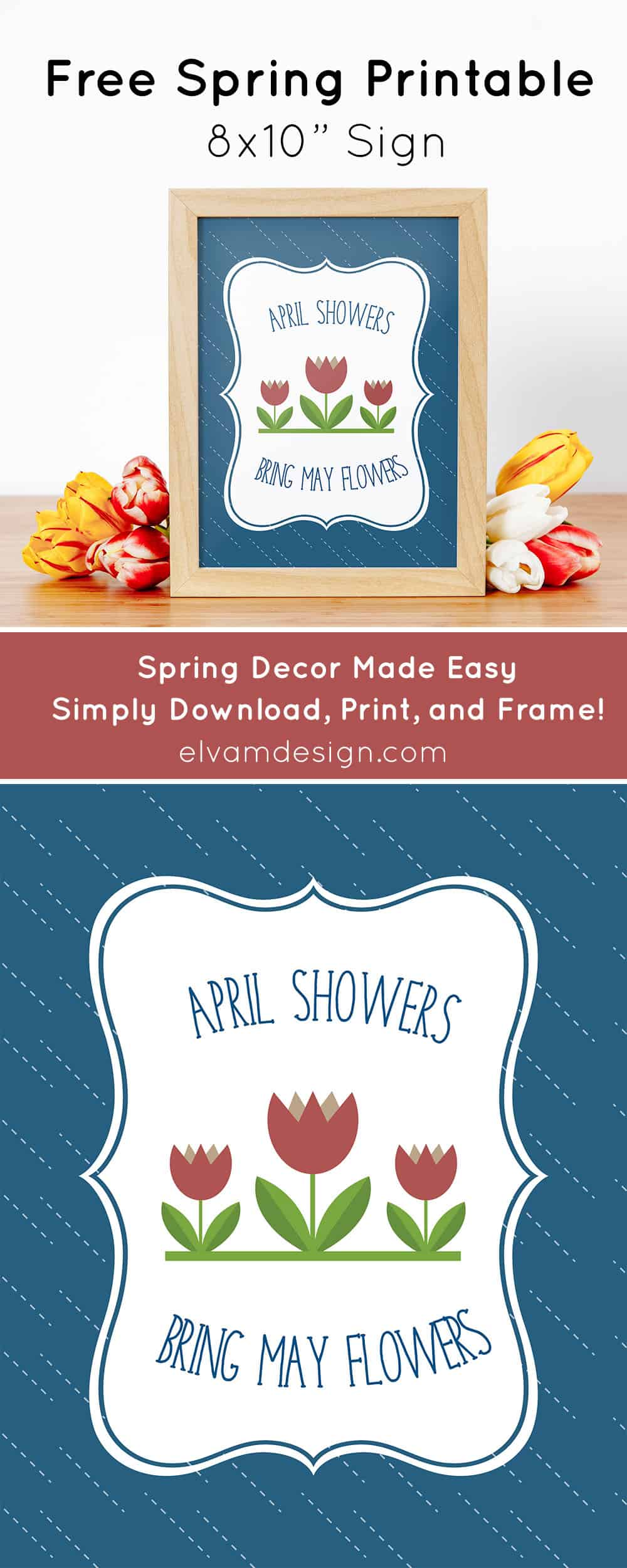 Free Spring Printable Decor from Elva M Design Studio