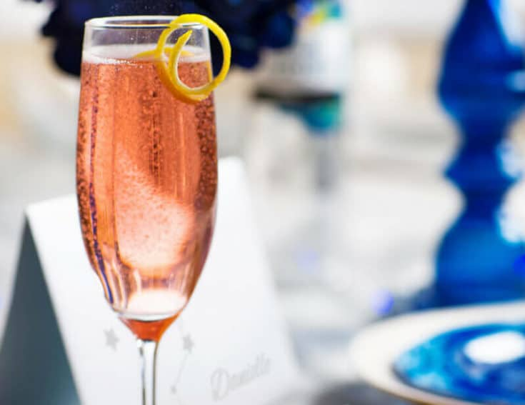 Sparkling Van Gogh Cocktail