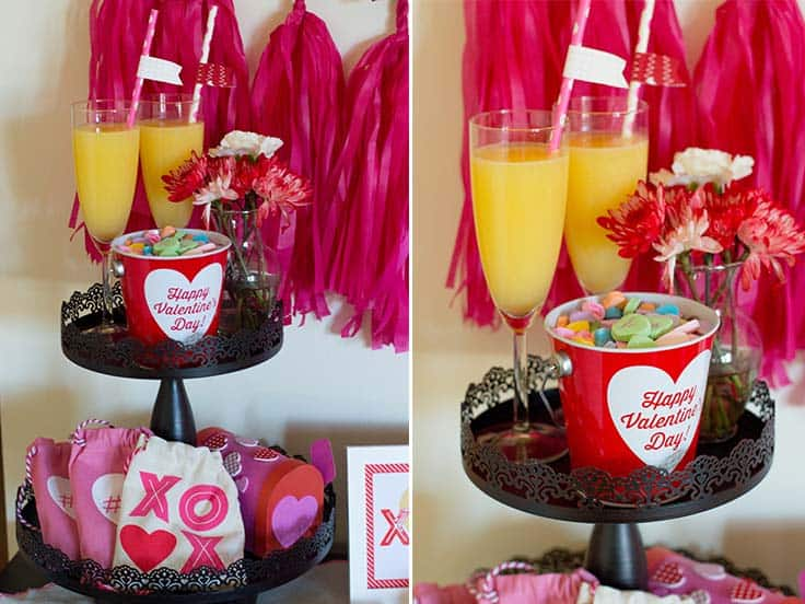 Valentine's Day party stand