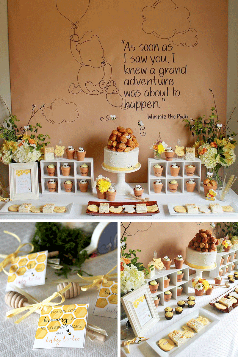 Free Bee Baby Shower Printables with Winnie the Pooh , Elva