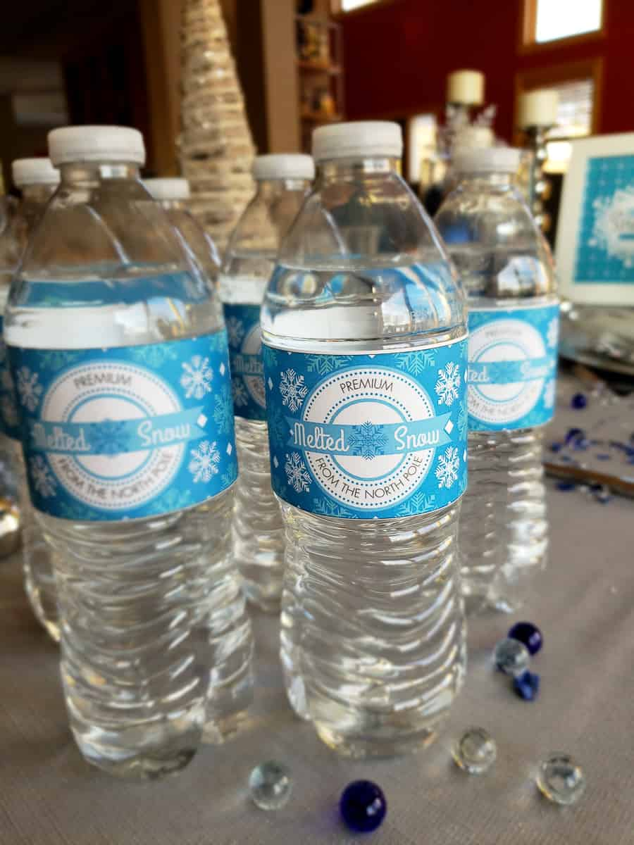 Winter Wonderland water bottle wraps