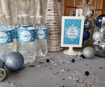Water bottle wraps and sign free printables