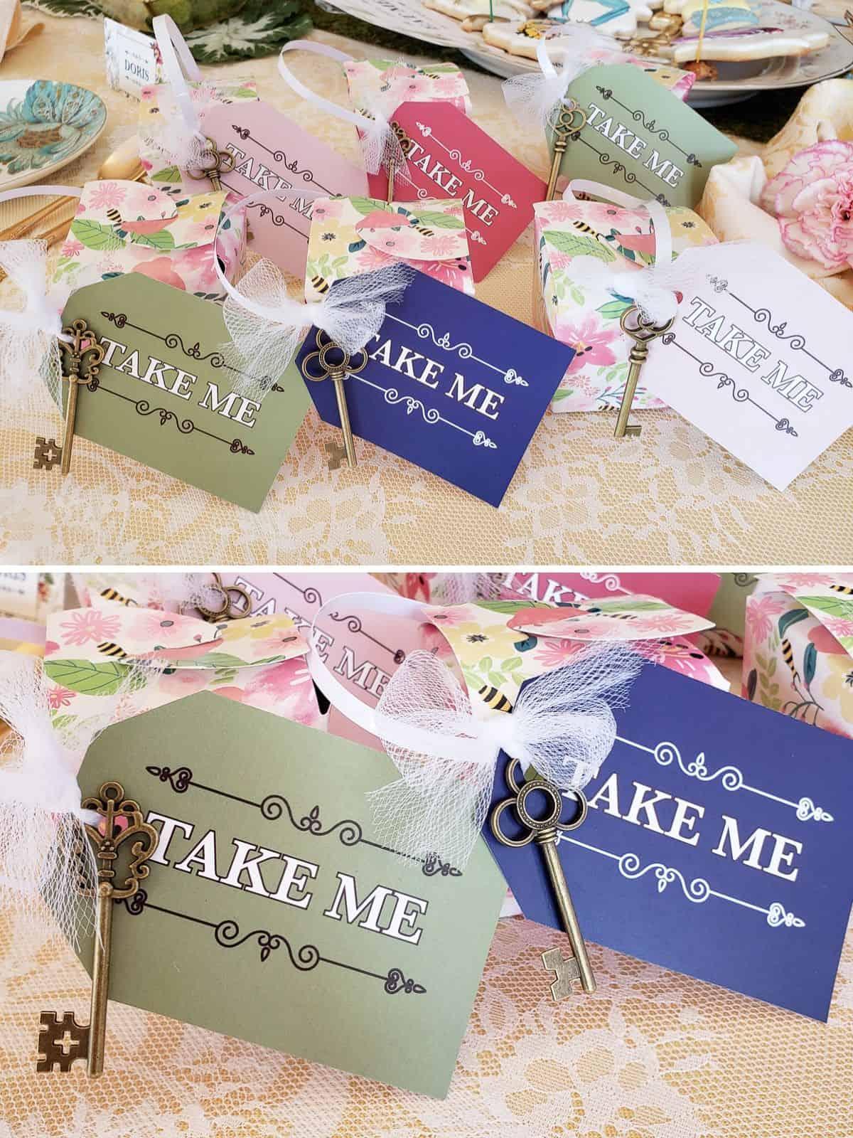 Alice in Wonderland Bridal Shower Favors Packaging