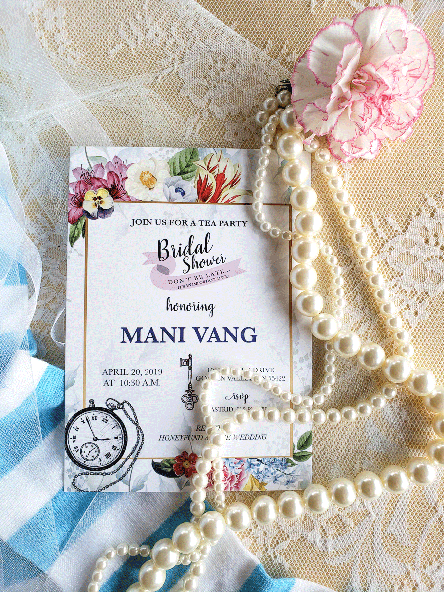 Alice in Wonderland Bridal Shower Invite
