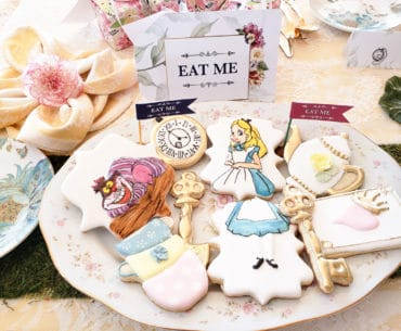 "Alice in Wonderland ""Eat Me"" Sign and Custom Sugar Cookies"