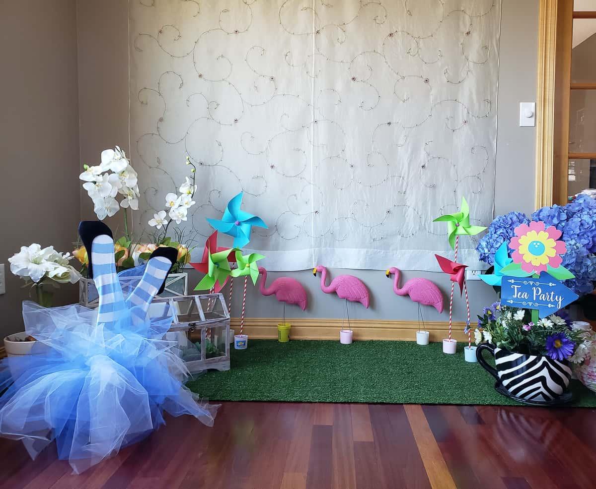 Alice in Wonderland Bridal Shower Photo booth