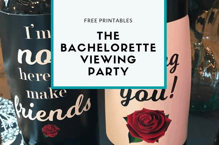 Free printables to host a Bachelorette Viewing Party