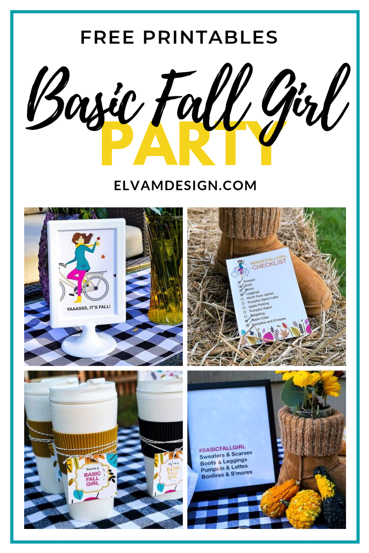 Basic Fall Girl Party Free Printables