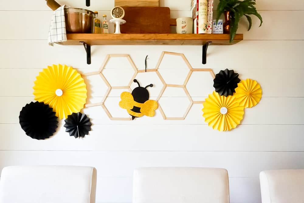 Bee party backdrop