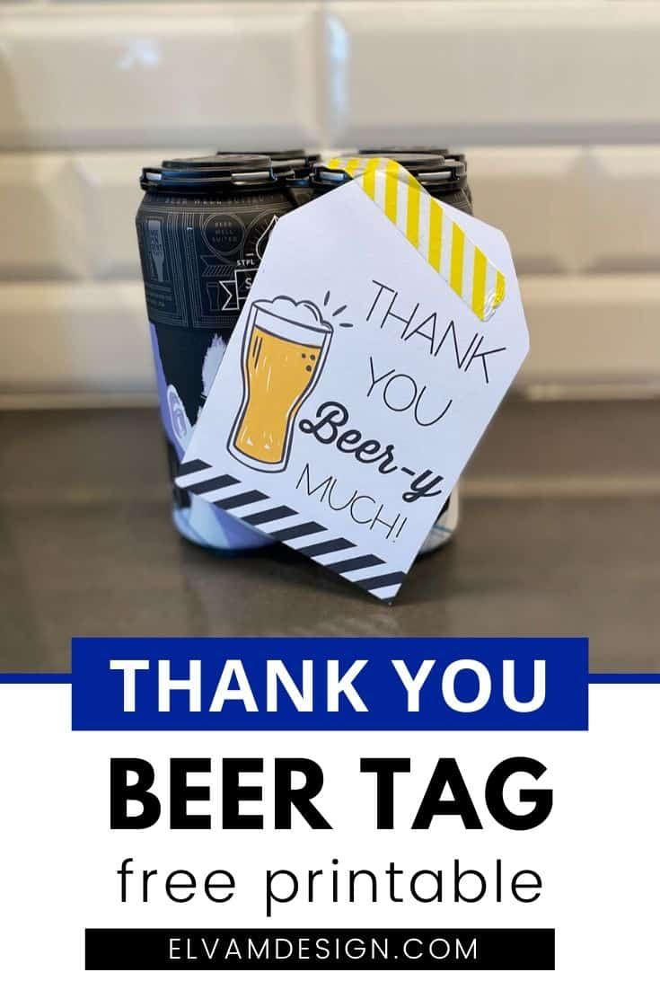 Beer Tag Free Printable
