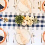 Blue Buffalo Plaid Thanksgiving Table