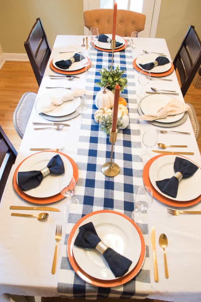 Buffalo Plaid Table Ideas
