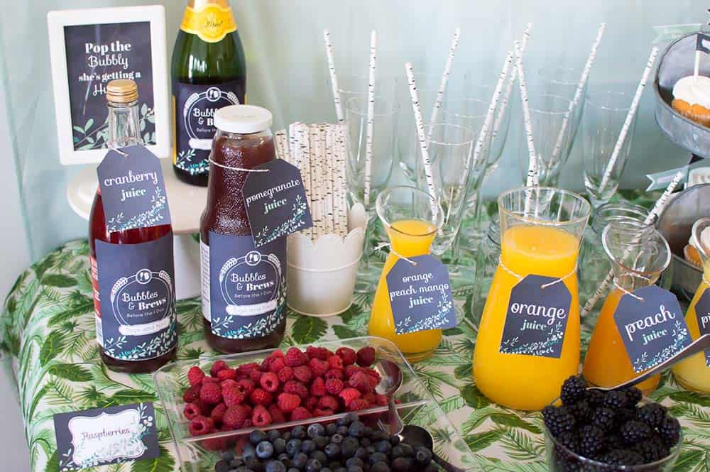 bridal shower mimosa bar