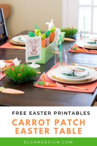 Carrot Patch Easter Table Ideas
