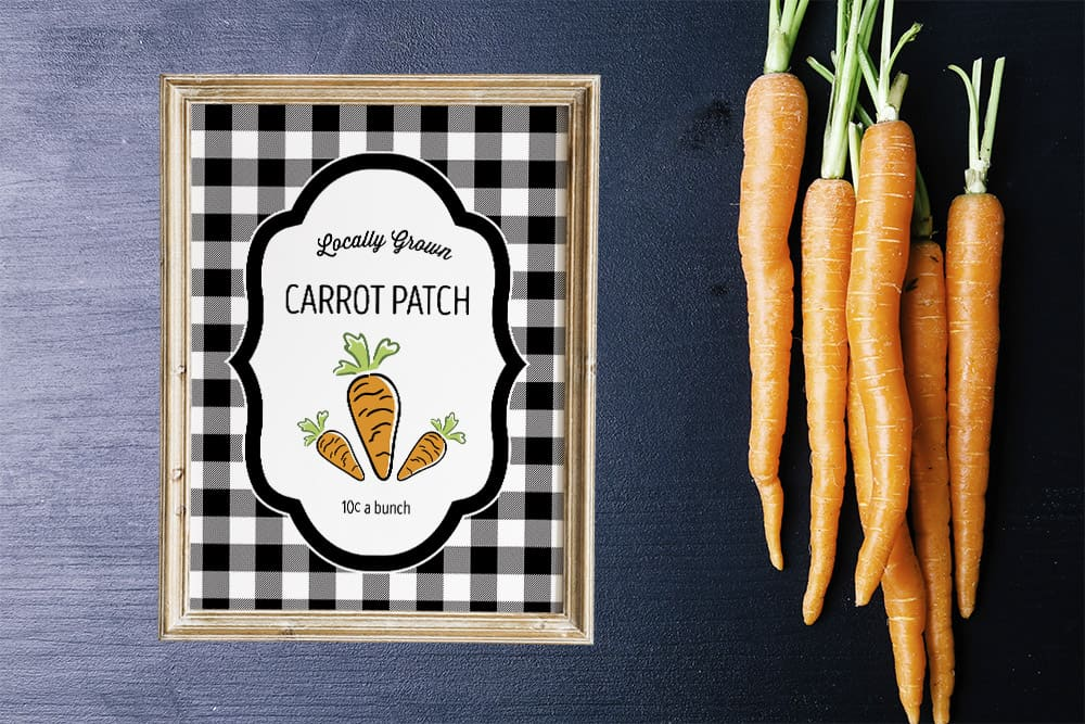 Free Carrot Patch Printable