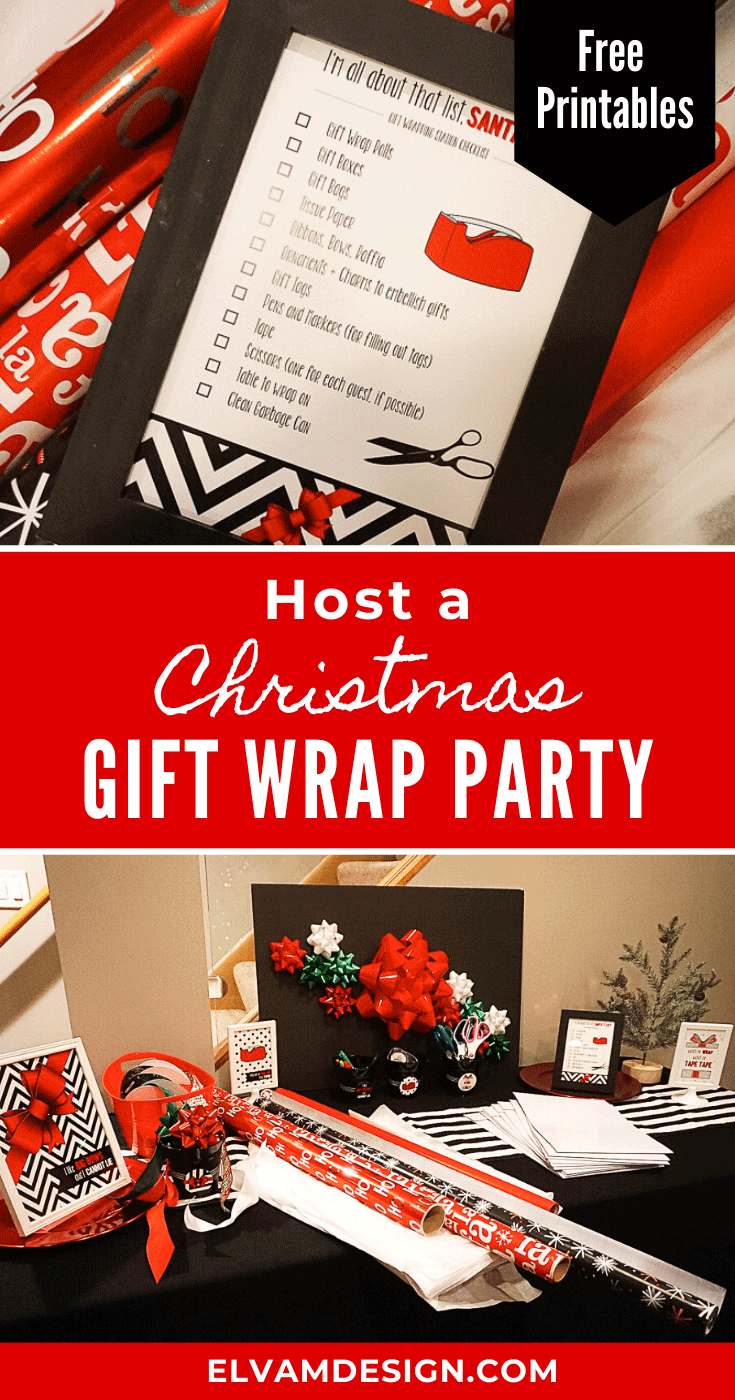 Host a Christmas gift wrap party with friends