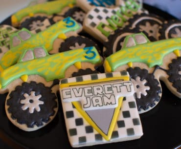 Custom Monster Truck Sugar Cookies from The Polka Dot Cookie