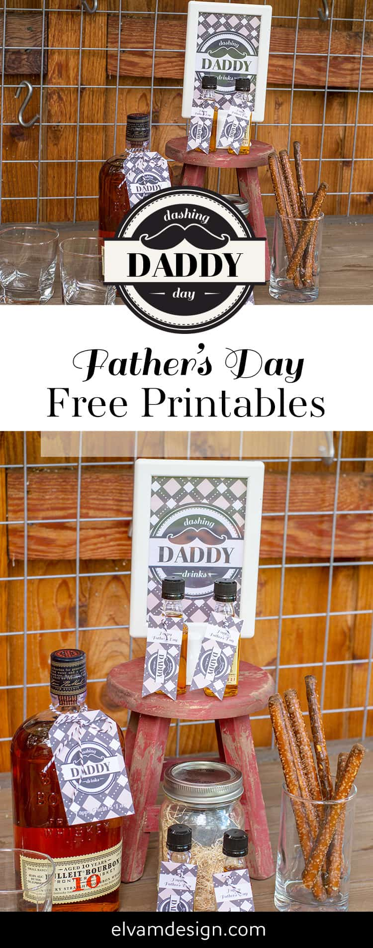 Father's Day Free Printables from Elva M Design Studio. Download these free tags and sign for an easy DIY gift.