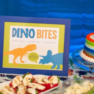 Dino Bites Dinosaur Birthday Party Sign