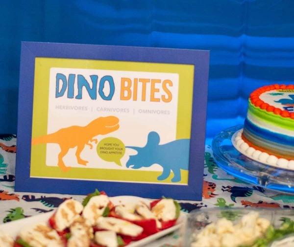 Dino Bites Dinosaur Birthday Party Sign