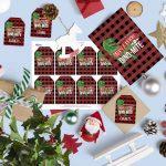 Free Christmas Dinosaur Gift Tags