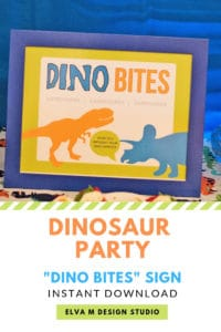 Dinosaur Bites Party Sign