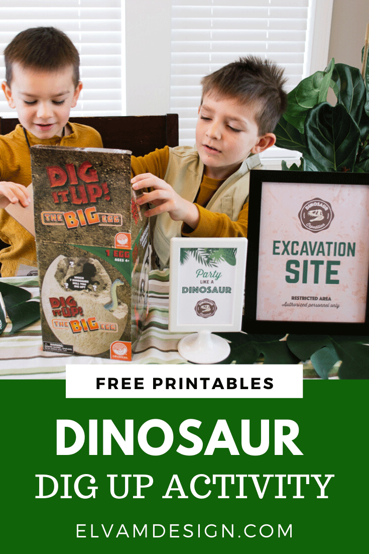 Dinosaur dig up activity for kids
