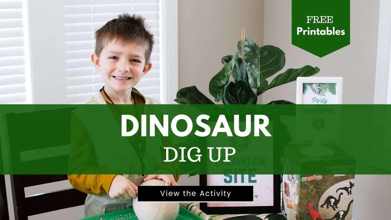 Dinosaur Dig Up Activity