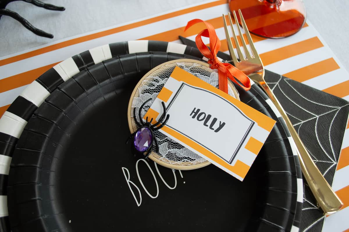 Halloween Spider Place Cards