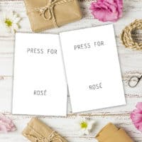 Press For Rosé Printable