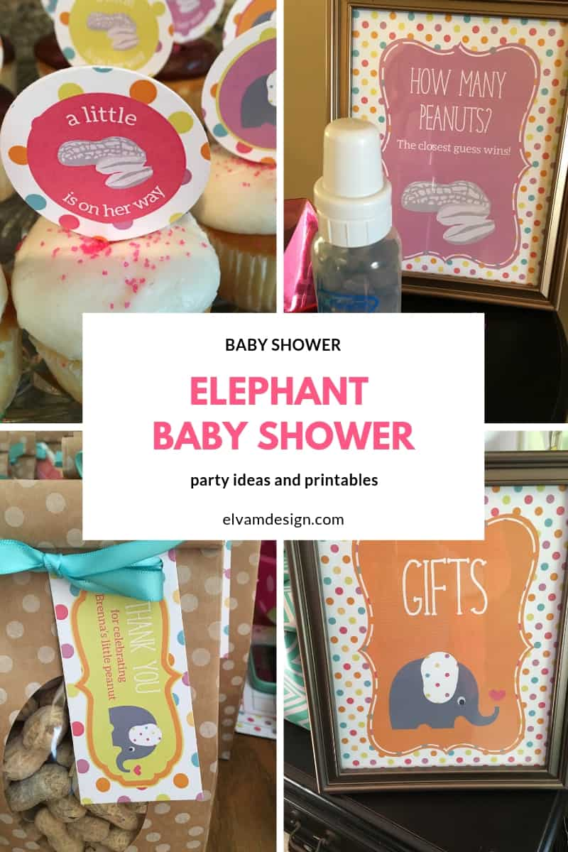 Elephant baby shower ideas from elvamdesign.com
