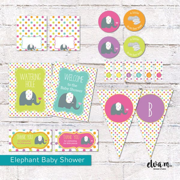 Elephant Baby Shower Package