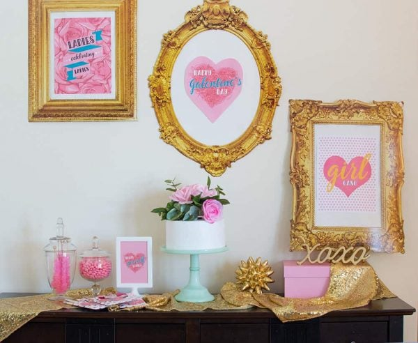 Girl Gang Galentine's Day Dessert Table from Elva M Design Studio
