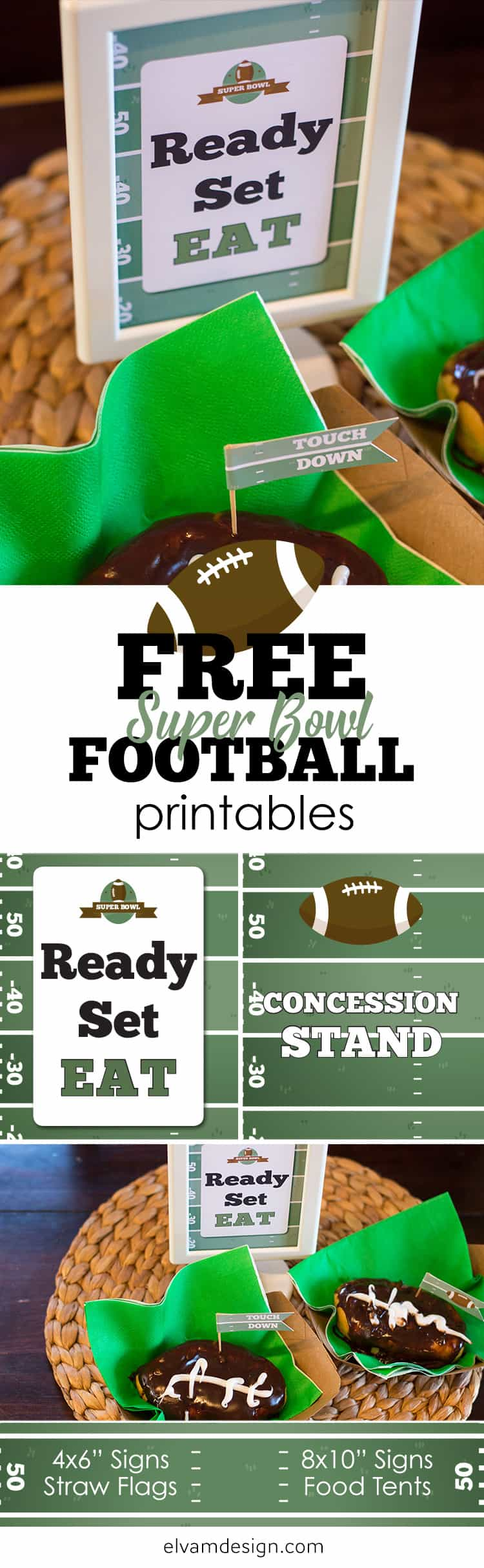 Free Football Printables from Elva M Design Studio