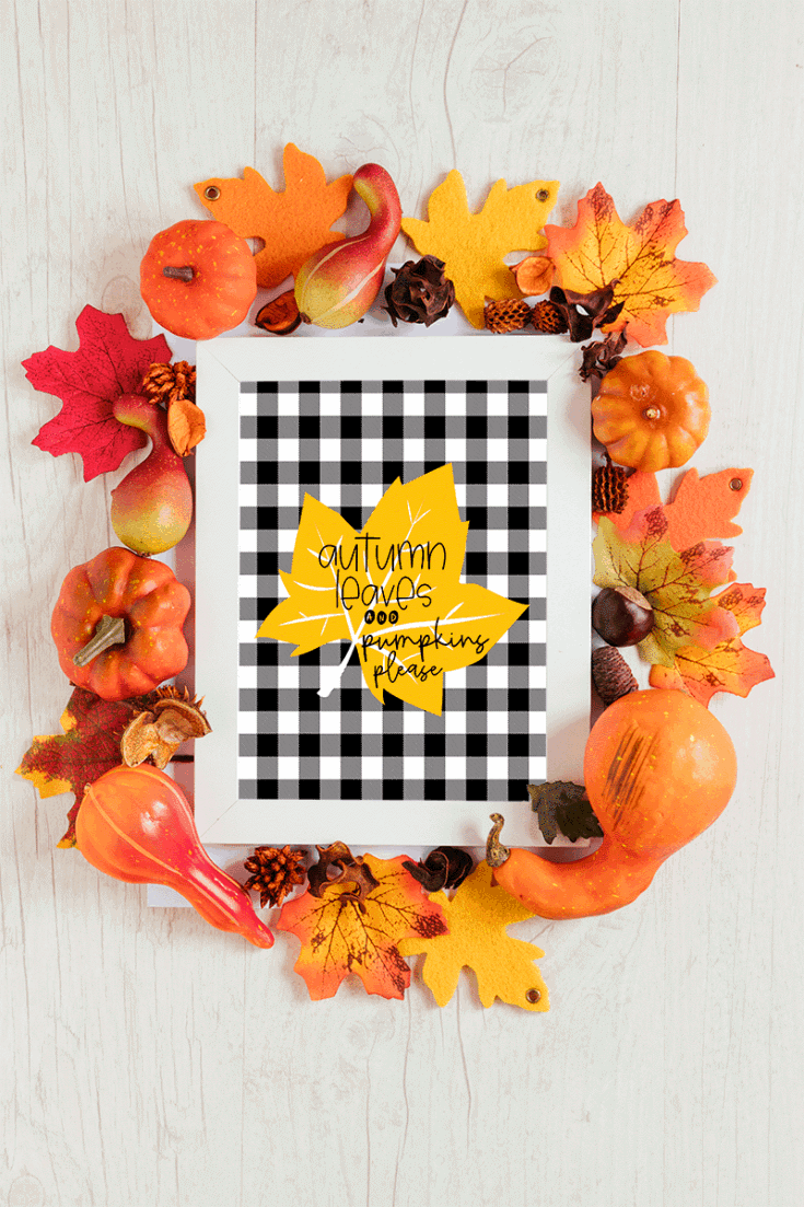 Autumn Leaves and Pumpkins Please Fall Printable